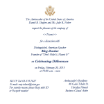 US Embassy-Tel Aviv Distinguished American Speaker