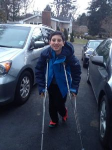 Ethan crutches Jan 2015