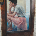 Self-Portrait in Door Mirror By  Eunice Ng
