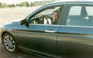 Julia driving as teenager (1)
