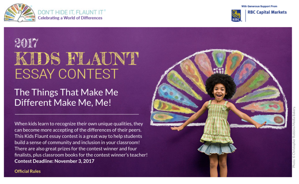 don t hide it flaunt it 2017 kids flaunt essay contest